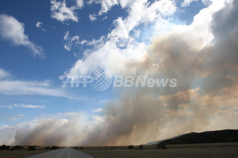 チリの国立公園で大規模な山火事、1万ヘクタール以上焼ける