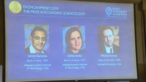 動画:2019年のノーベル経済学賞、米国の3氏に