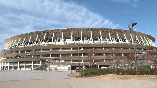 動画:新国立競技場で竣工式、東京五輪・パラのメイン会場