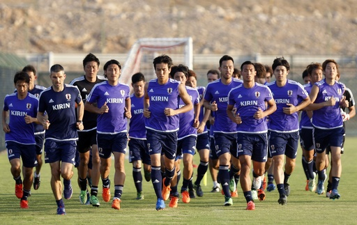ハリル日本がマスカットで練習―アジア2次予選でシリアと対戦