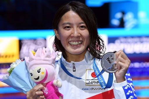 大橋が女子200m個人メドレーで銀メダル、世界水泳