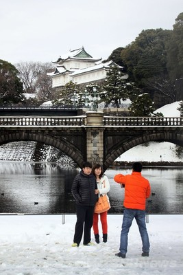都心で45年ぶりの大雪、東北でも積雪増える