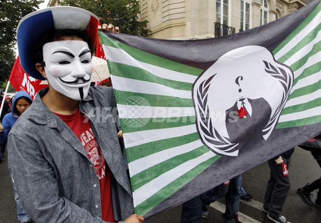 アノニマスが省庁などサイバー攻撃か、改正著作権法に反発表明後