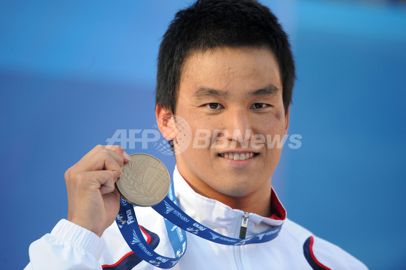 フェルプスが世界新で200メートルバタフライを制す 松田は3位に、世界水泳