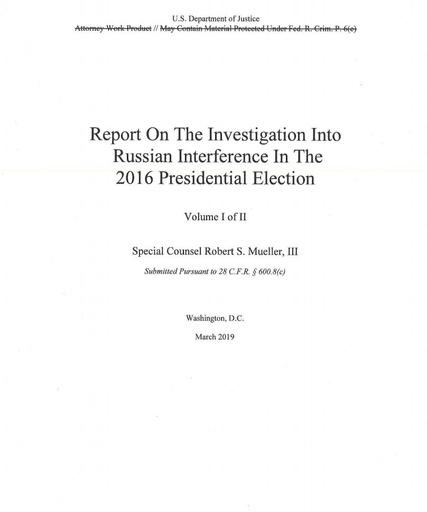 米、ロ疑惑報告書を公表 トランプ氏司法妨害の疑い晴れず