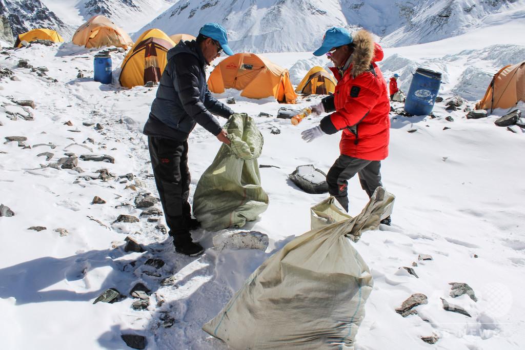 チベットで2020年春季登山ごみ回収活動を実施