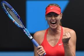シャラポワがブシャールに快勝、7度目の4強入り 全豪オープン