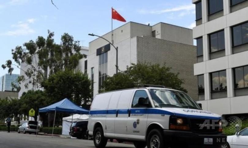 中国総領事館に向けて男が発砲 けが人なし ロサンゼルス
