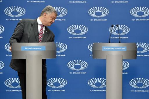 ウクライナ大統領選討論会、コメディアン候補者欠席 現職の「ワンマンショー」に