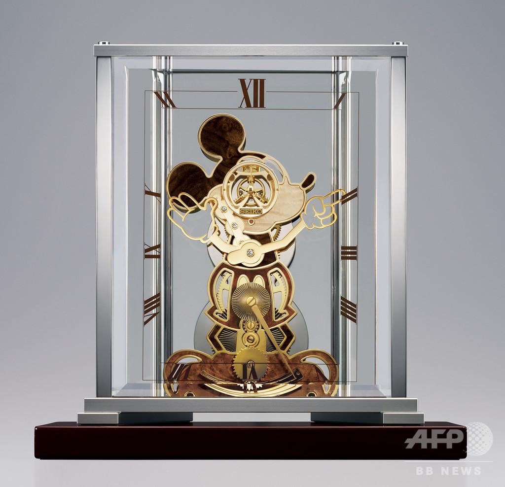 ミッキーマウス90周年、「セイコー」機械式置時計を受注生産発売