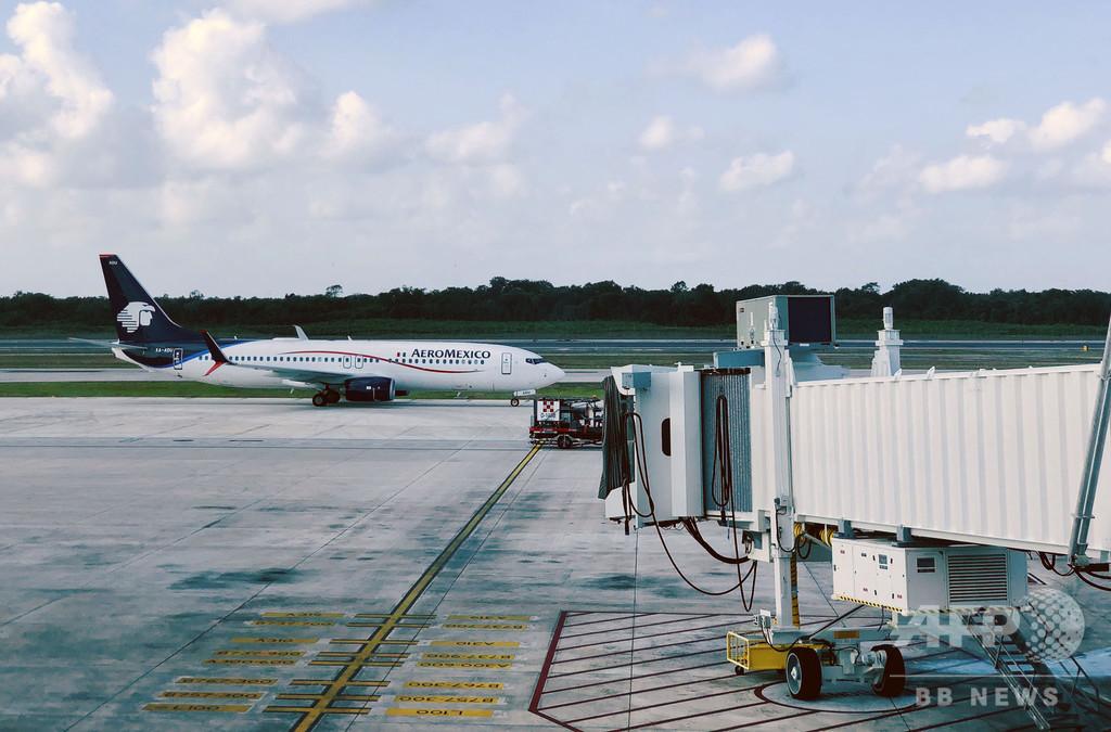 機内で日本人死亡、腹部にコカインの包み246個 メキシコ