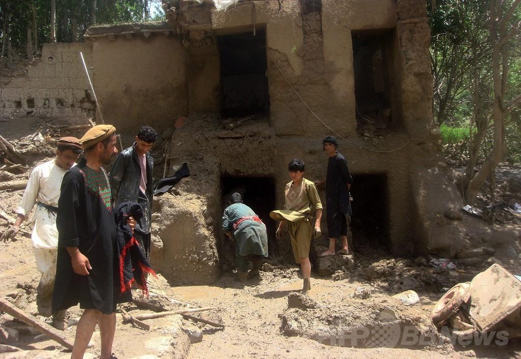 鉄砲水で70人以上死亡、アフガニスタン