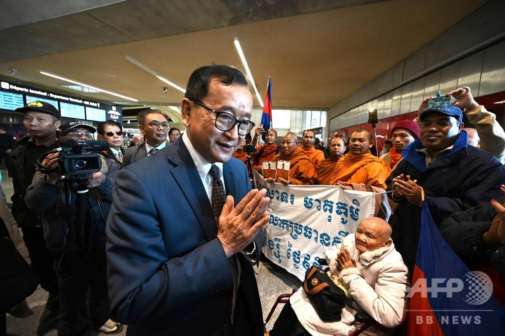 カンボジア野党指導者、帰国目指すもパリで搭乗拒否される