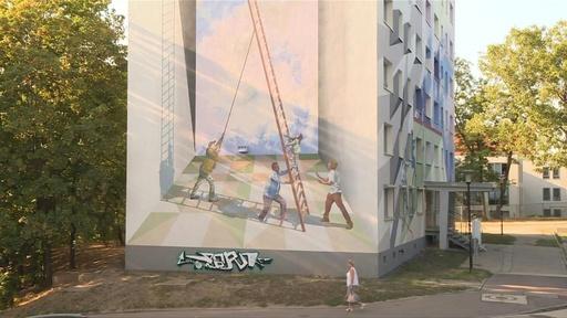 動画:旧東ドイツの集合住宅「プラッテンバウ」を塗り替える、アート事業の挑戦