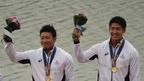 松下/藤島組が男子カヤックペア200mで金、アジア大会