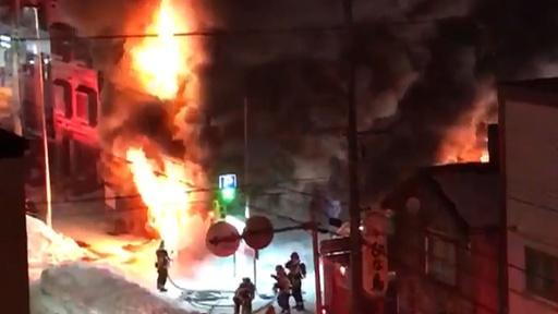 動画:北海道札幌市の共同住宅で火災、11人死亡