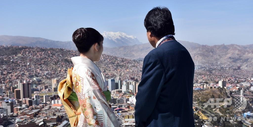 眞子さま、ボリビア大統領を表敬訪問 屋上からの景色楽しむ