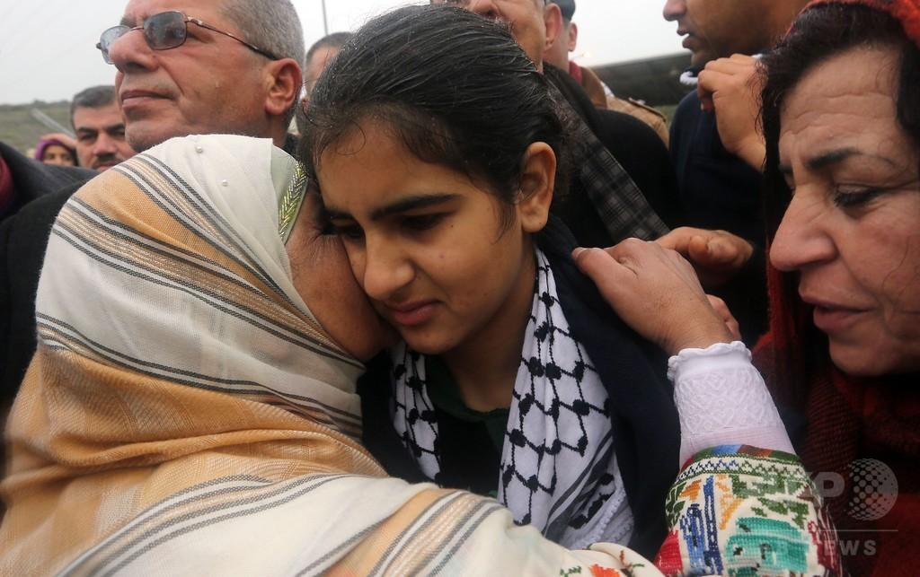 「石を拾って」有罪のパレスチナ14歳少女、イスラエルが早期釈放