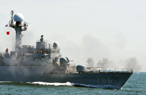 韓国海軍が対潜水艦訓練、哨戒艦沈没後初めて