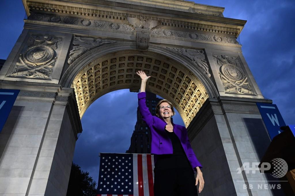 ウォーレン氏支持率、バイデン氏抜き初めてトップへ 米大統領選民主党候補争い