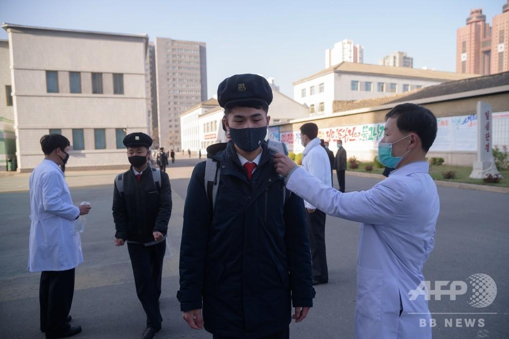 「感染者ゼロ」の北朝鮮、医大で新型コロナ対策の講義