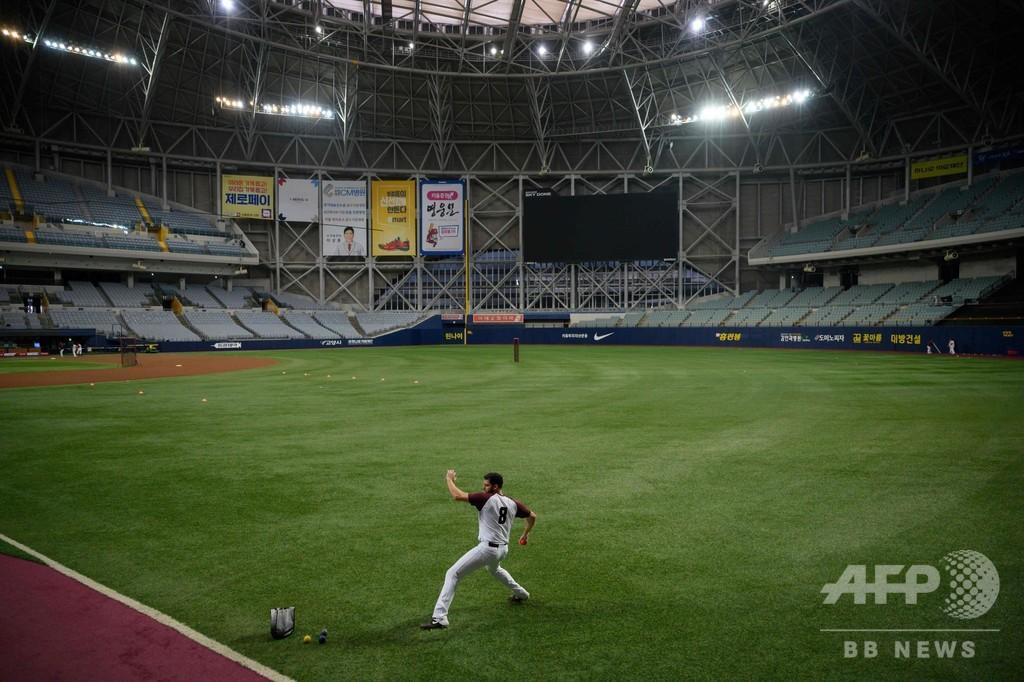 新型コロナでスポットライト、韓国プロ野球の米選手