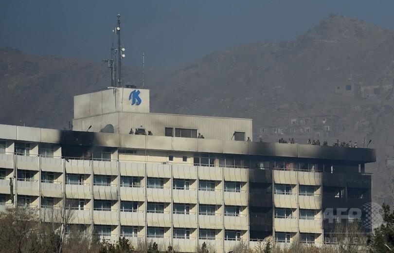 アフガン首都ホテル襲撃、死者数は6人に タリバンが犯行声明
