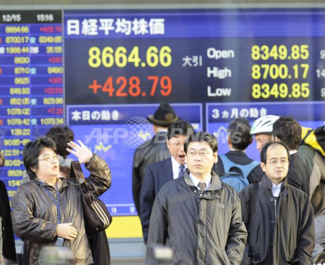 アジア市場全面反発、ビッグスリー救済に期待感