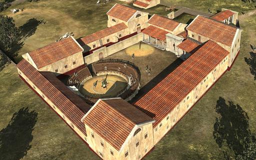 古代ローマの剣闘士訓練所、CGで再現 オーストリア