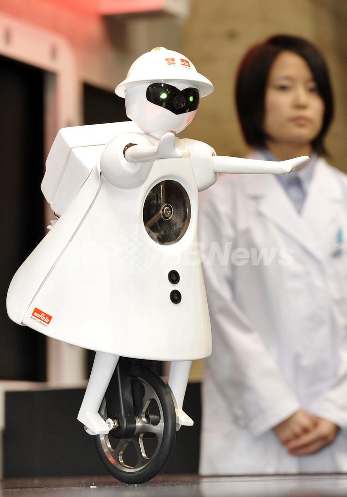 村田製作所の一輪車ロボット、「ムラタセイコちゃん」