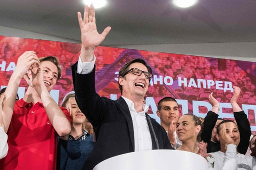 北マケドニア大統領選、国名変更支持の与党候補が勝利 決選投票 接戦に