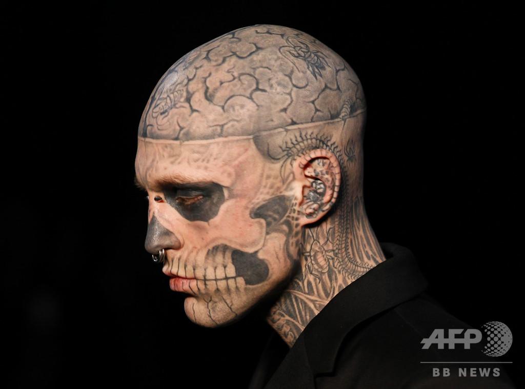 全身タトゥーモデル、ゾンビボーイさん死去 自殺か
