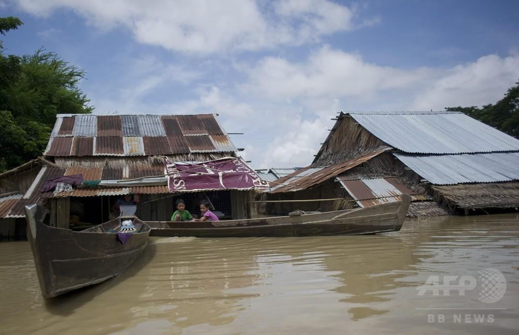 ミャンマー洪水の死者100人超える、被災100万人