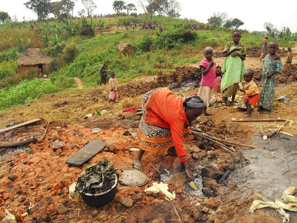 1日平均4600人の避難民、紛争下のコンゴ 国連報告