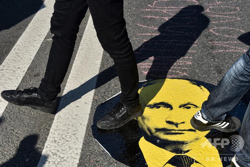プーチン大統領、支持率39%に急落 14年以降で最低、年金改革に不満