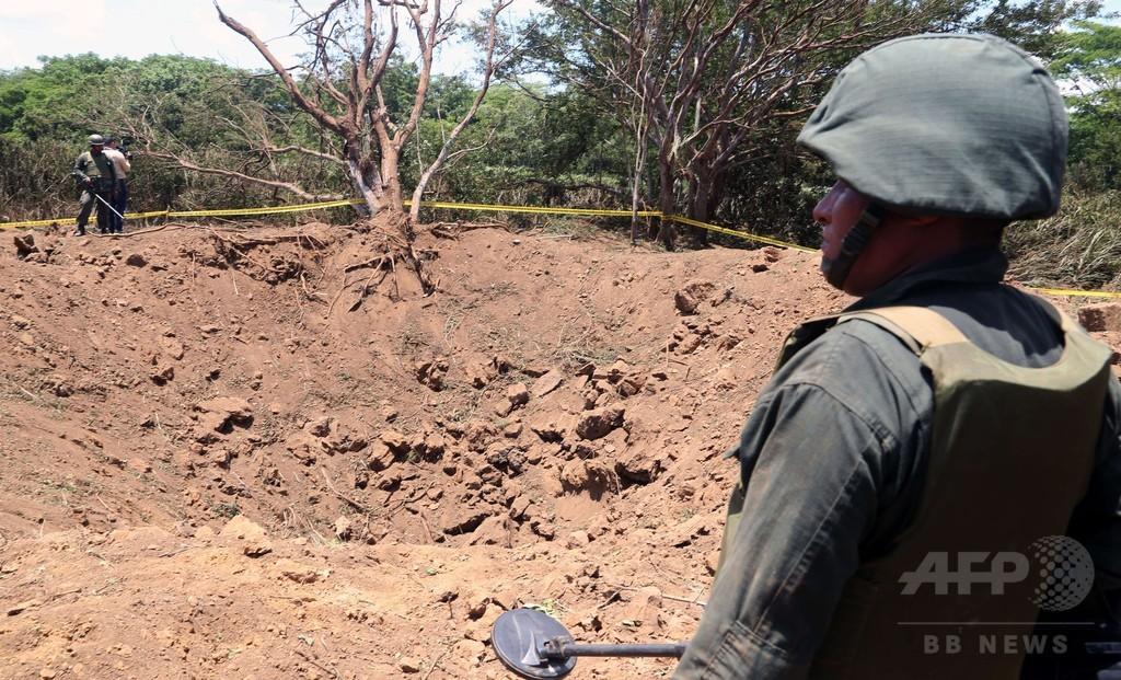 小惑星の破片落下か、ニカラグア首都にクレーター出現
