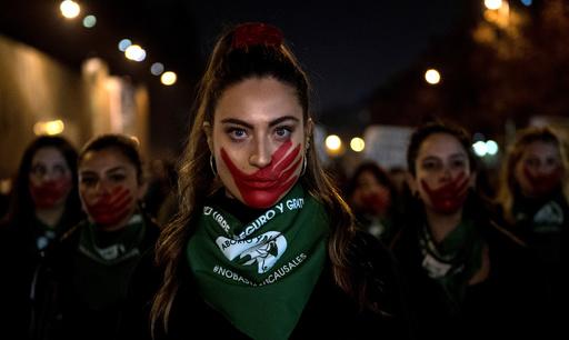 【今日の1枚】フェースペイントが表す女性への抑圧