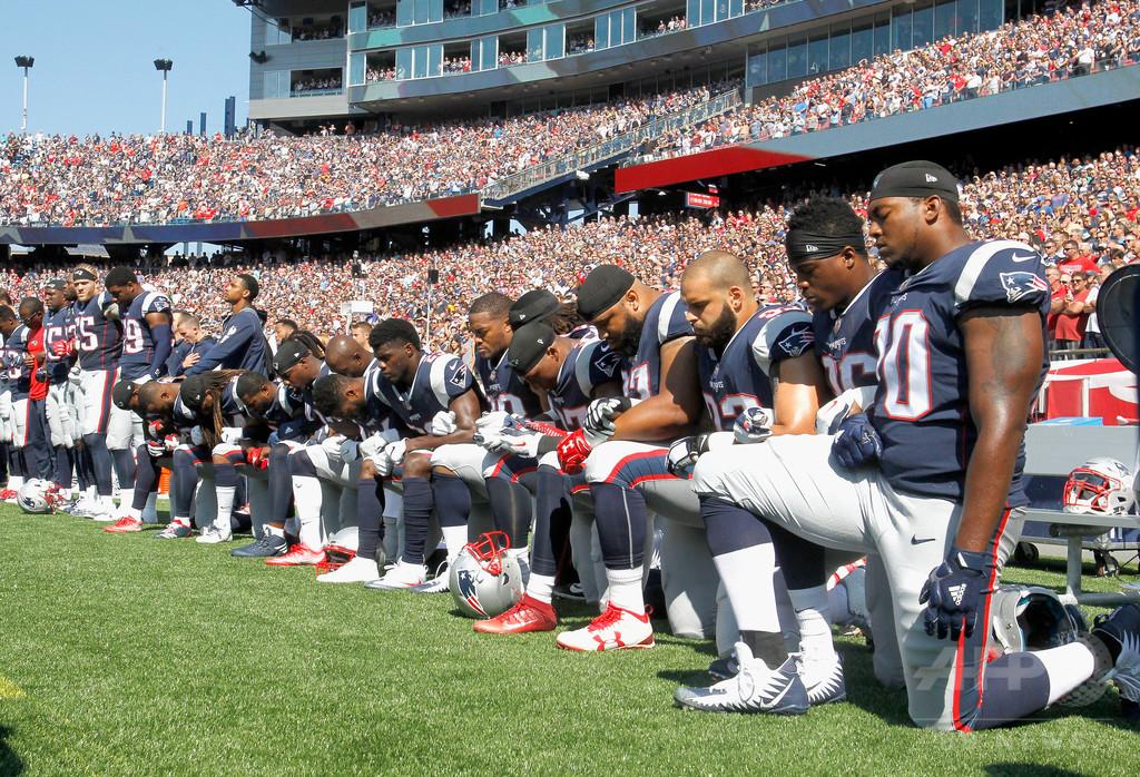 NFLの膝つき抗議に状況次第での「恩赦」を示唆、トランプ大統領