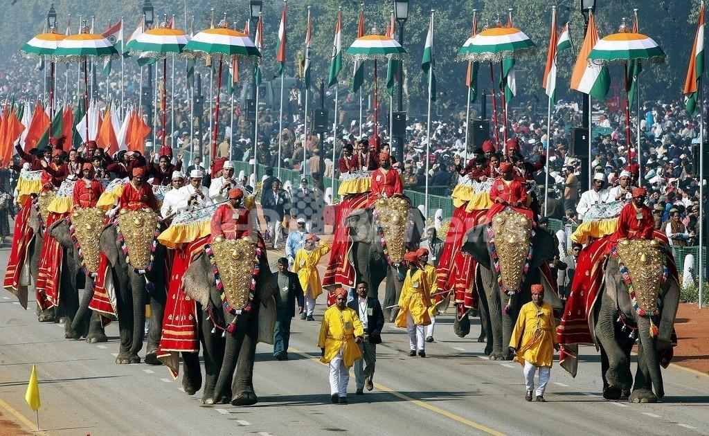 インド共和国記念日のゾウのパレード、全面禁止に