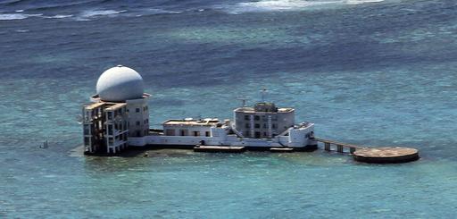 南沙諸島に中国が新レーダー施設、フィリピン当局が確認