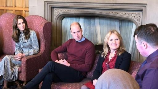 動画:ウィリアム英王子夫妻、中部の工業都市を訪問