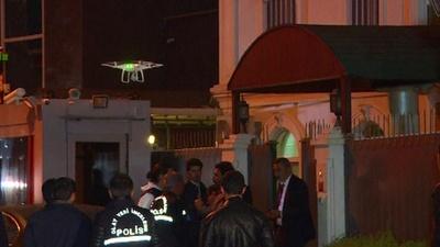 動画:トルコ警察、サウジアラビア総領事公邸を捜索