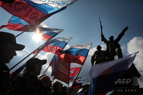 ロシアのクリミア編入から3年、記念行事の盛り上がりは控えめ