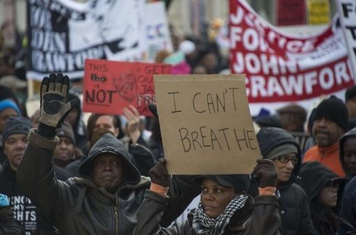 米各地で大規模デモ、警察による黒人殺害に数千人が抗議