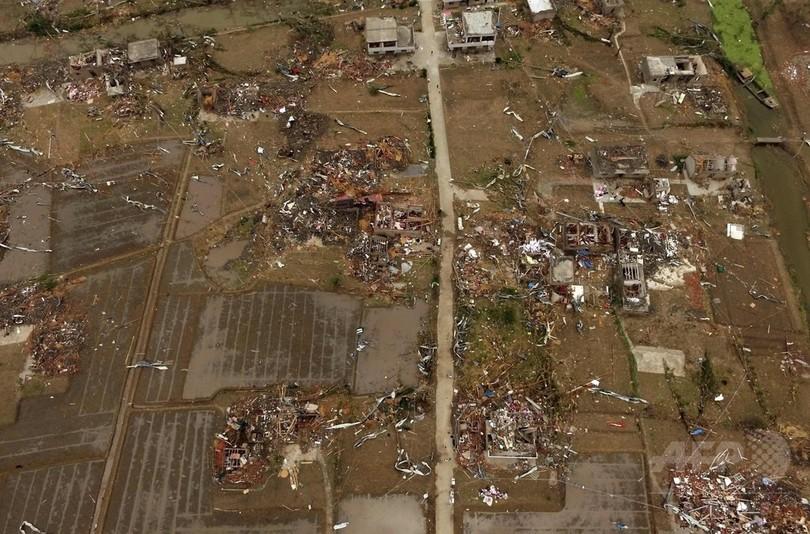 中国江蘇省の暴風と竜巻、死者98人 負傷者約800人に