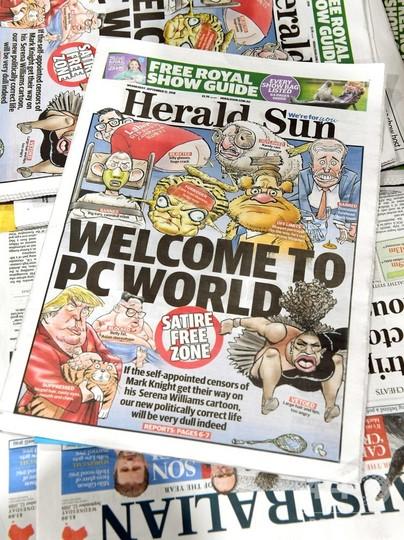 セレーナ風刺画で非難の豪紙、1面に再掲載し反論