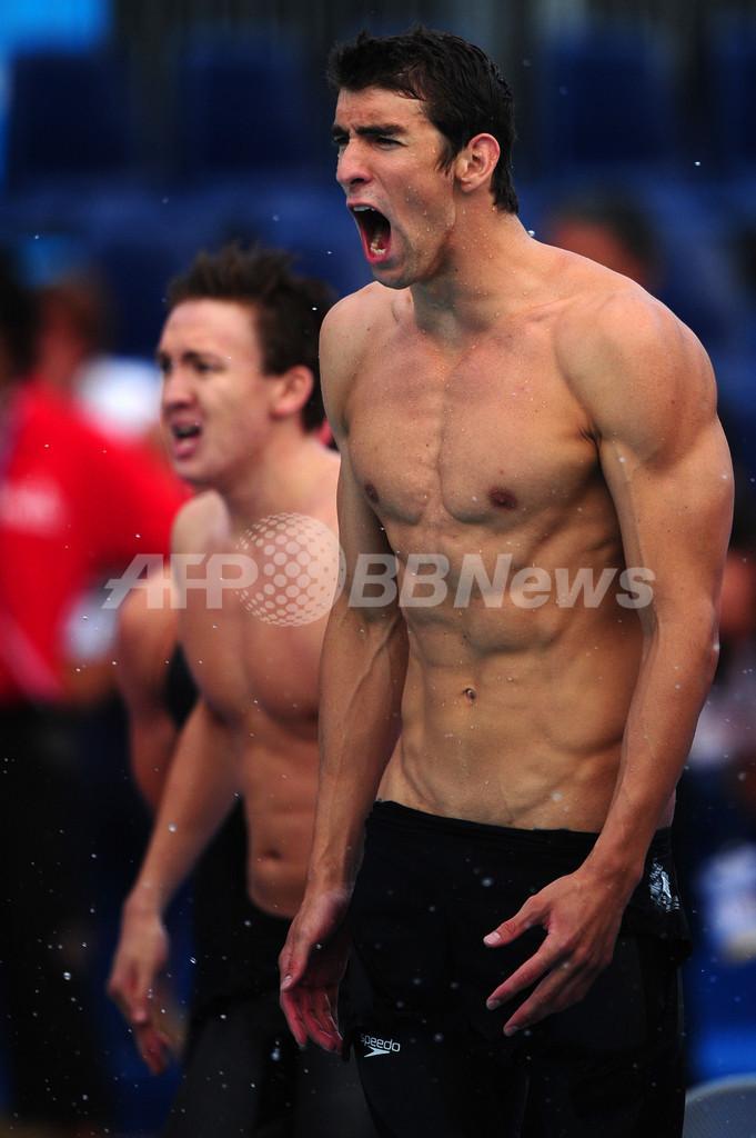 米国 4x200メートルリレーで世界新、世界水泳