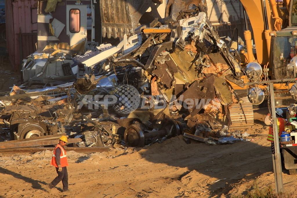 ロス郊外列車事故から2日、死者25人に