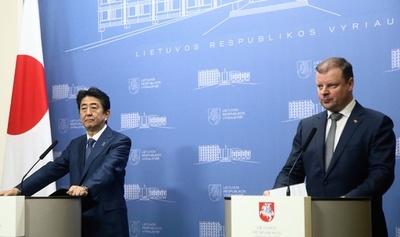 安倍首相、バルト3国と対北朝鮮で圧力強化を確認