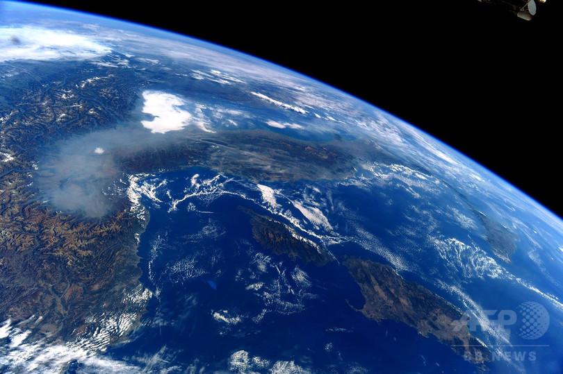 宇宙からでもくっきり、イタリア北部の大気汚染